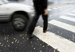 car accident hit pedestrian crossing lawsuit lawyers